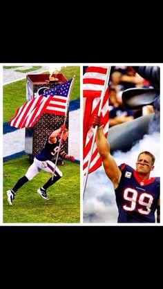 fc52b69471fcdd J.J. Watt carries flag on field to honor veterans Football Usa