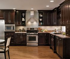 Alder Cabinets in Casual Kitchen - Kitchen Craft Cabinetry
