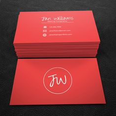 Really neat Premade Business Card Design - Print Ready - Printable Business Card- Simple Red - PDF & JPEG - 300 DPI 25.00 USD from BrandiLeaDesigns business card calling card premade design graphic design template custom professional classy simple business card design DIY red http://ift.tt/1Vk4fWr