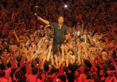 Bruce Springsteen in the crowd July 4, 2012 Paris