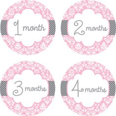 Baby Month Stickers Baby Monthly Stickers by LittleLillyBugDesign, $11.00