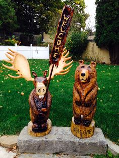 My chainsaw carvings