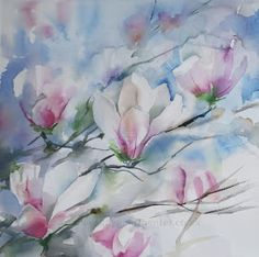 Spring Magnolia, watercolor by Kay Parmenter