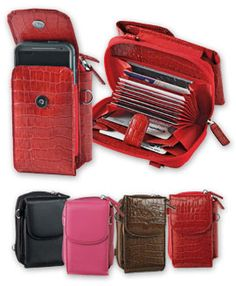 Accordion Phone Wallet, Mini Leather Phone Purse, WalletBe Smartphone Accordion Wallet | Solutions