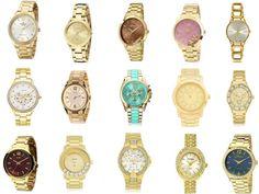 fb41f620939 Kit 10 Relógios Femininos Dourados Atacado Baratos Online http   produto. mercadolivre.