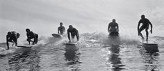 San Diego beach boys scan the waves and sun-kissed babes hold court in Ron Church's immortal images of 60s West Coast surf culture.