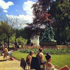 Elegant Sitting in the park like the Parisians do