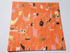 Vintage Gift Wrapping Paper  Retro Abstract by TheGOOSEandTheHOUND, $7.00