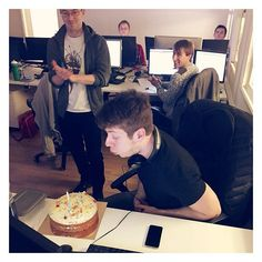 A big happy birthday to Nick this week! We celebrated the only way we know how - with cake!