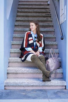 Covering the Bases | Fashion and Travel Blog New York City: Stripe ASOS Cape in San Francisco