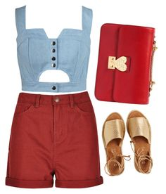 """""""High waisted"""" by lisannevicious ❤ liked on Polyvore featuring Chicnova Fashion, Kaanas and Valentino"""