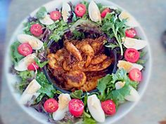 Jamie Oliver's 30mins Thai red curry bbq prawns and mixed salad - 3件のもぐもぐ - BBQ Thai red curry prawns salad by Slinky