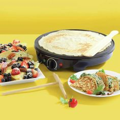 Buy Progress Taste The World Crepe Maker   Speciality appliances   Argos Black Toaster, Crepe Maker, Savory Crepes, Ideal Shape, Specialty Appliances, Argos, Ethnic Recipes, Sweet, Easy