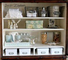 Ivy and Elephants: Snack Bar Snack Bar, Bathroom Medicine Cabinet, Diy Projects, Shelves, Elephants, Ivy, Pond, Thursday, Nest