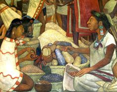 Selling corn. Diego Rivera