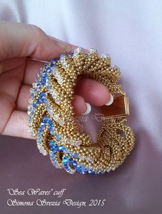 SEA WAVES cuff / bracciale solo su ordinazione / by PerlineeBijoux
