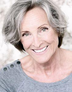 MIREILLE SCHEELEN gray makes women look so old but men look so nice with gray hair.