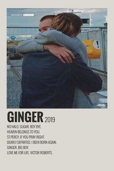 Alternative Minimalist Music Album Poster- Ginger by Brockhampton - Music Album Covers, Music Albums, Music Collage, Wall Collage, Collage Ideas, Vintage Music Posters, Vintage Movies, Minimalist Music, Film Poster Design