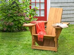 Build a classic Westport chair: This predecessor to the Adirondack chair is an attractive, ample lounger constructed of stock cedar.