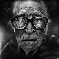 "This image of a homeless man is part of an exhibition by photographer Lee Jeffries at the Museum of Rome. The English photographer said he tries to capture a ""spiritual emotion"" in the faces of the homeless. PHOTO: CNS/courtesy of Lee Jeffries Photos Black And White, Black And White Portraits, Black And White Photography, Lee Jeffries, Homeless People, Homeless Man, Elderly Man, Foto Portrait, Portrait Photography"