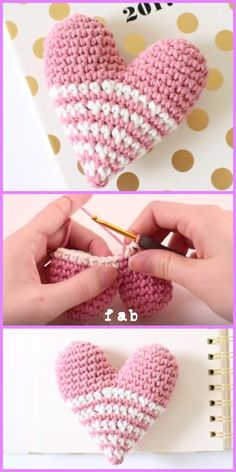 Crochet Amigurumi Ideas Crochet Heart Amigurumi Free Patterns With Video Tutorial - Crochet Heart Amigurumi Free Patterns With Video Tutorial Easy Crochet Stitches, Crochet Amigurumi Free Patterns, Unique Crochet, Easy Crochet Patterns, Knit Or Crochet, Crochet Dolls, Free Crochet, Tutorial Crochet, Crochet Projects