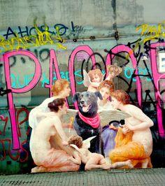 Arte callejero - Negro matapacos Social Art, Urban Art, Love Of My Life, Revolution, Street Art, Painting, Animals, Amor, Murals