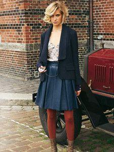 burda style: Damen - Röcke - Ausgestellte Röcke - Falten-Rock - Leder - Mini