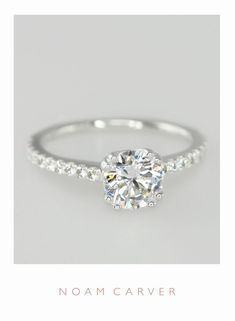 A classic solitaire for a classic bride. Designer engagement rings by Noam Carver – model B001-01 noamcarver.com/…