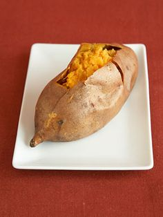 A baked sweet potato is only 55 #calories - use it as a #healthy side to your main meal. #dinner