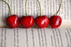 Cherries in a row