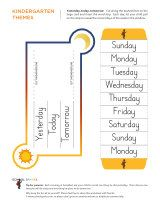 Kindergarten worksheets - Days of the week - Intermediate 8