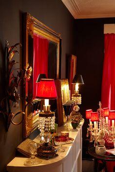 HGTV.ca Original Home Tour: Designer Jane Hall's Colourfully Eclectic Toronto Retreat. living room: black, hot pink, red, feminine, eclectic.