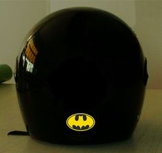 BATMAN REFLECTIVE MOTORCYCLE HELMET DECAL.2 FOR 1 PRICE