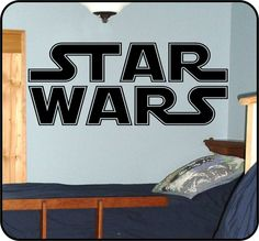 large vintage Star Wars Logo Wall Decals Stickers logo. $29.50, via Etsy.
