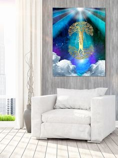 A painting by Orit Martin, Printed on quality canvas from a limited series, can be ordered in any size.visit my website ! #Jewishart #art #kabbalah #decor #styling #prints #canvas #decorating #inspiration