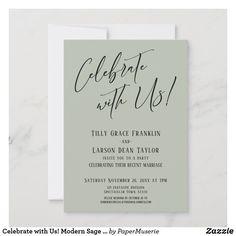 Wedding Party Invites, Party Invitations, Sage Wedding, Marriage, Weddings, Celebrities, Valentines Day Weddings, Celebs, Wedding