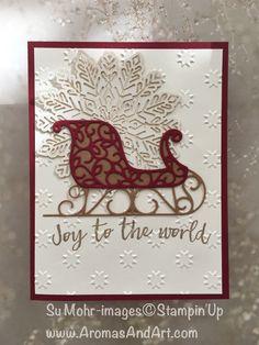 Quick and Easy Christmas Card Joy – Aromas and Art – Christmas DIY Holiday Cards Homemade Christmas Cards, Stampin Up Christmas, Christmas Cards To Make, Xmas Cards, Simple Christmas, Handmade Christmas, Homemade Cards, Holiday Cards, Christmas Diy