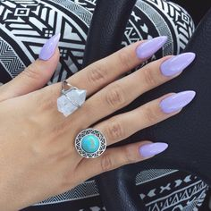 Not my style of nail but the color is pretty!