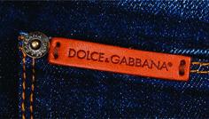 etiqueta para bolsillo de jean D & G.