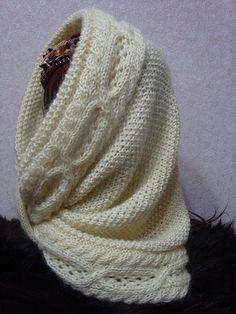 Купить Снуд-шарф вязаный Прикосновение любимого - вязаный снуд, шарф снуд