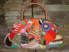 Felted wool Recycled sweaters Purse. $125.00, via Etsy.