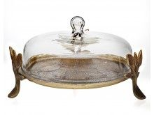 Godinger - 13 Laurel Covered Cake Platter in Gold Glass Beverage Dispenser, Cake Platter, Cake Cover, Elegant Cakes, Freshly Baked, Glass Domes, Beautiful Cakes, Tea Set, Candlesticks