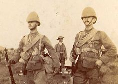 With Lt Temple Sentry duty New year's Eve 1899 Lt. James Cooper Mason DSO - RCR - Boer War 1900 - 7 Belmont Photos