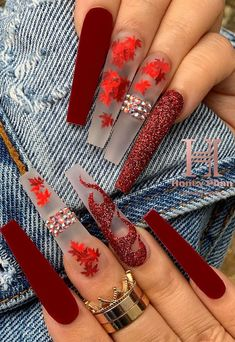 Edgy Nails, Stylish Nails, Swag Nails, Grunge Nails, Bling Acrylic Nails, Acrylic Nails Coffin Short, Winter Acrylic Nails, Autumn Nails, Spring Nails