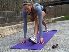Yoga inspired pre-run stretches... :)