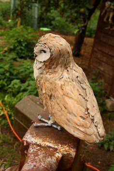 ceramic barn owl back by Joe lawrence art work, via Flickr