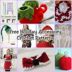 Free Holiday Accessory Crochet Patterns - The Lavender Chair