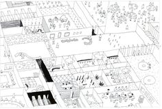 architectural-review:  Part of a proposal for De Kunstlinie' Theatre and…