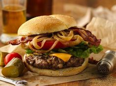 How To Make Caramelized Beer-Onion and Bacon Burgers