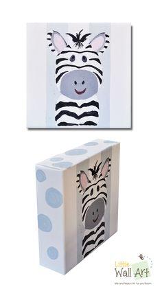 little zebra on canvas
